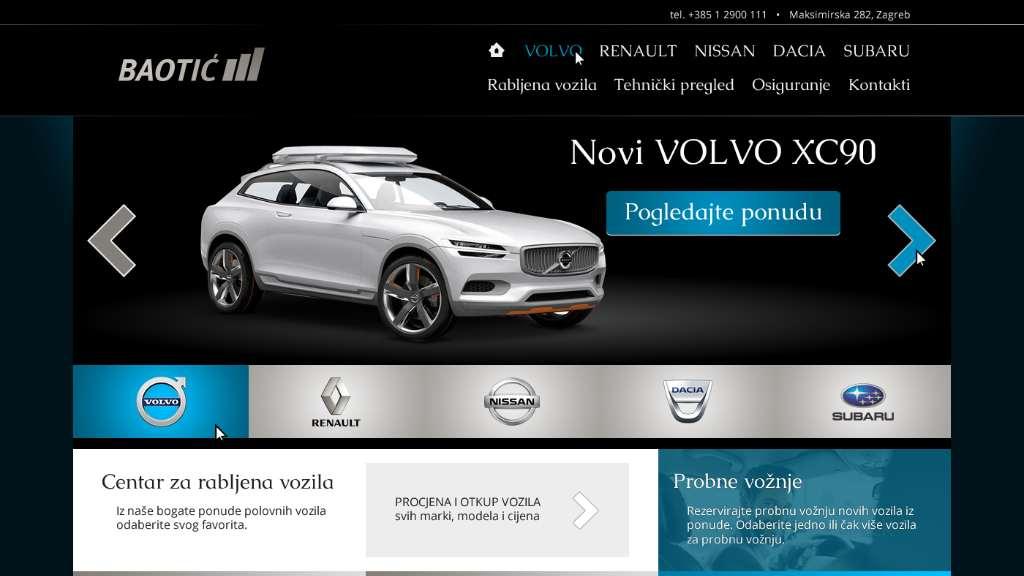 Autokuća Baotić – multi-brand web stranica