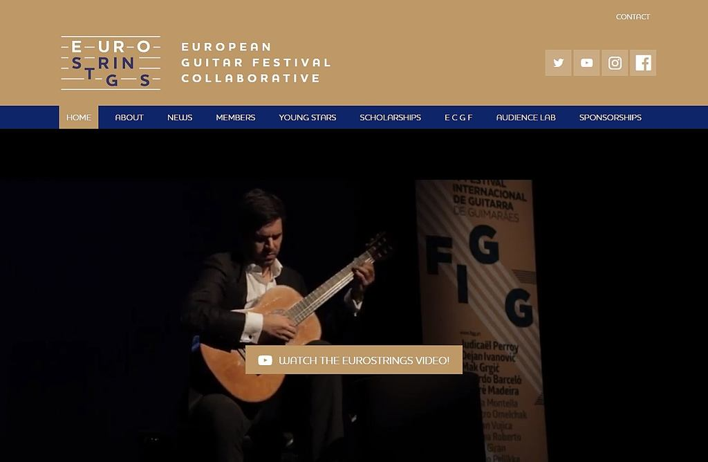EuroStrings – web stranica