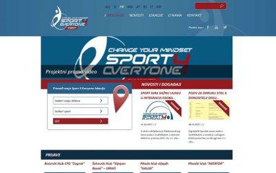 Sport 4 Everyone – web stranica i mobilna aplikacija