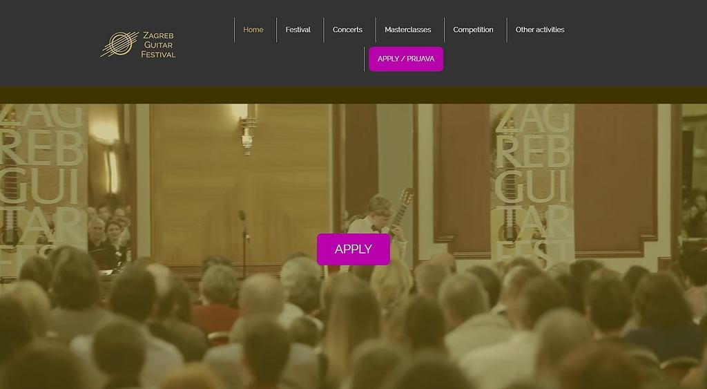 Zagreb Guitar Festival – web stranica