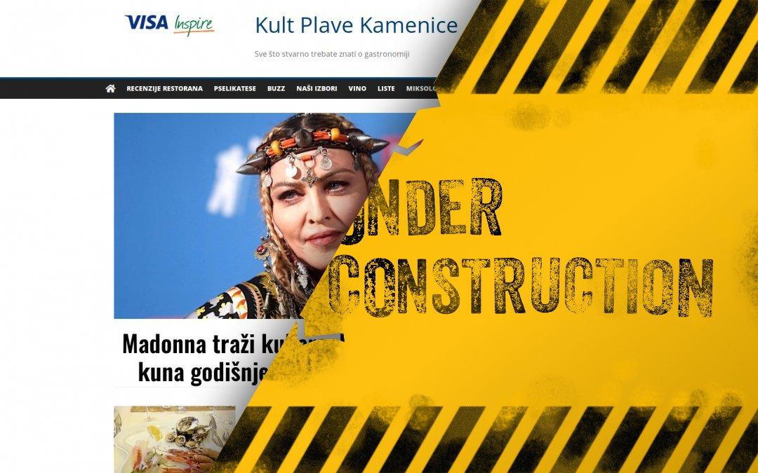 Kult Plave Kamenice - under constructon