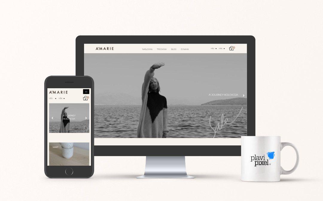 Izrađen web shop za poznati brend dizajnerske odjeće A'Marie