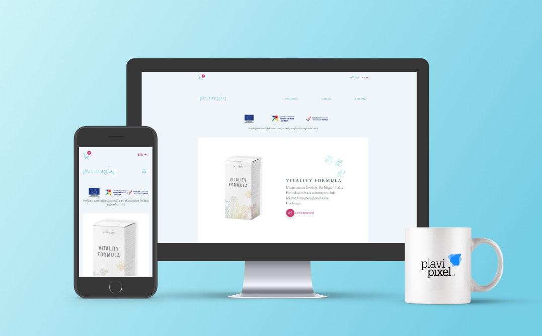 Petmagiq novost - izrada web stranica by Plavi Pixel
