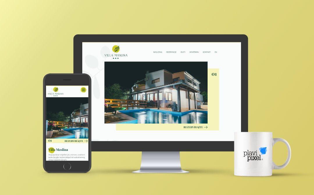 Branding and Web Site Villa Maslina