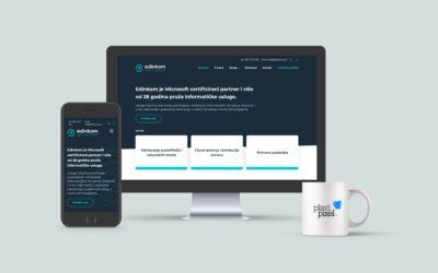 Rebranding i nova web stranica za poslovnog partnera Edinkom